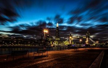 Wallpaper: Night Bridge London Cityscape