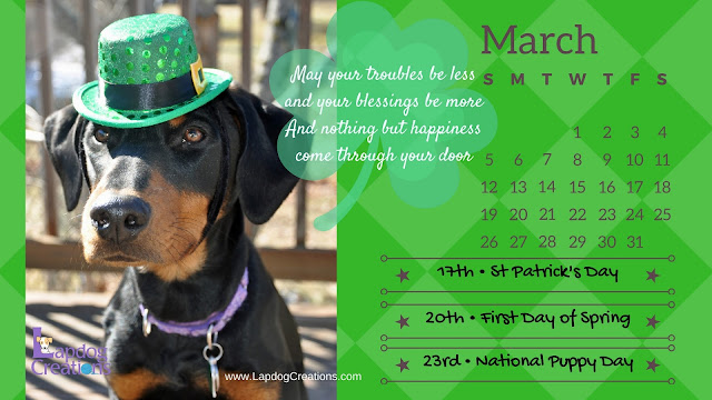 doberman mix resc-5ue puppy march printable calendar