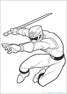 Mewarnai Gambar Power Ranger - 3