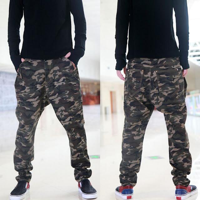 Desain Celana baggy Motif Army Dance HipHop Murah