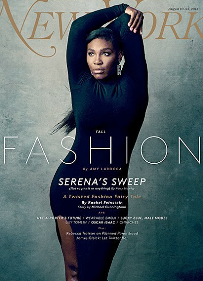 Serena Williams shows off her flexibility on the cover of ...