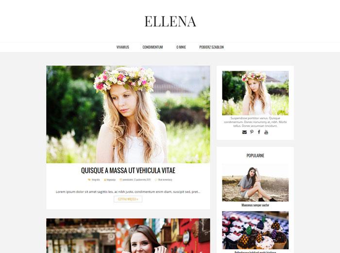 ELLENA: szablon blogspot