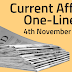 Current Affairs One-Liner: 4th November 2019