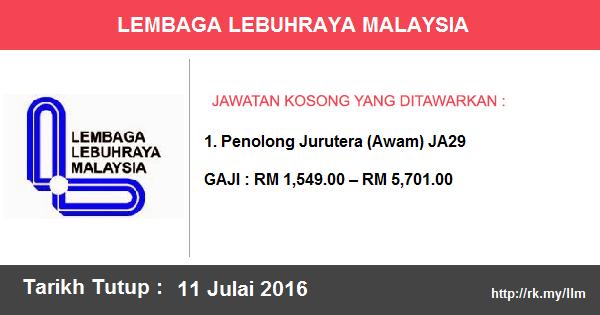 Jawatan Kosong di Lembaga Lebuhraya Malaysia (LLM)