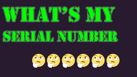 كيف تعرف رقم السيريال الخاص بالكمبيوتر بدون برامج!!