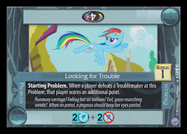My Little Pony Looking for Trouble Premiere CCG Card