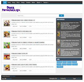Dijual Murah Blog Niche Abadi Permainan Android