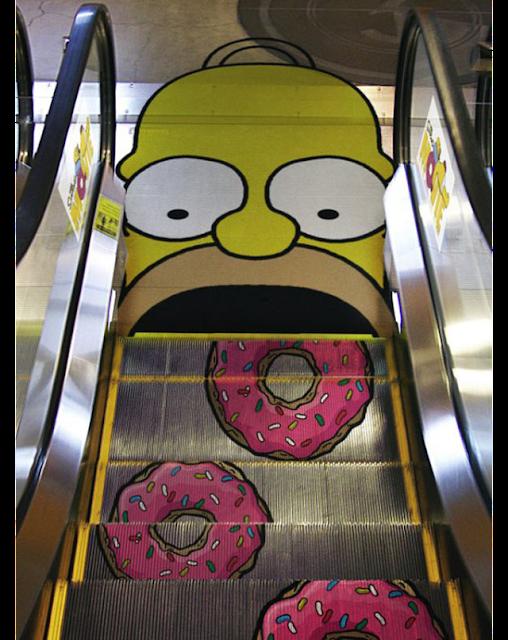 """درج كهربائي كدعاية  لمسلسل سيمبسون""""the Simpsons"""""""
