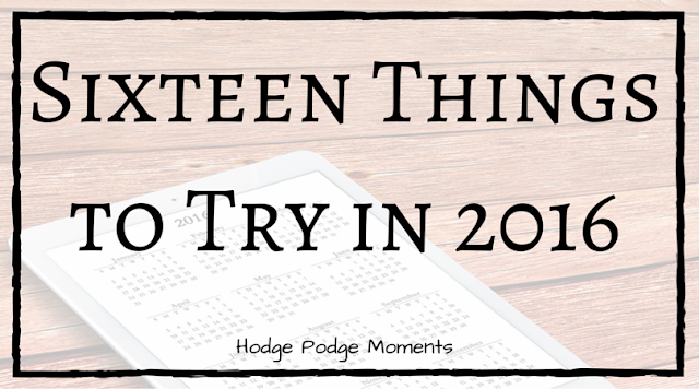 Sixteen Things to Try in 2016