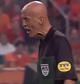 Pierluigi Collina was never easily intimidated on the field and earned the respect of players
