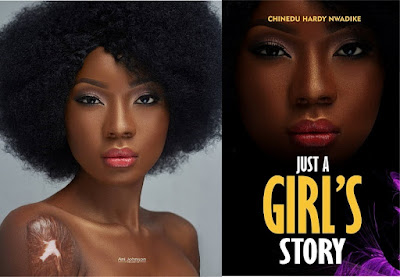 'Just A Girl's Story': Model, Aniema Orok Makes Chinedu Hardy's Book Cover