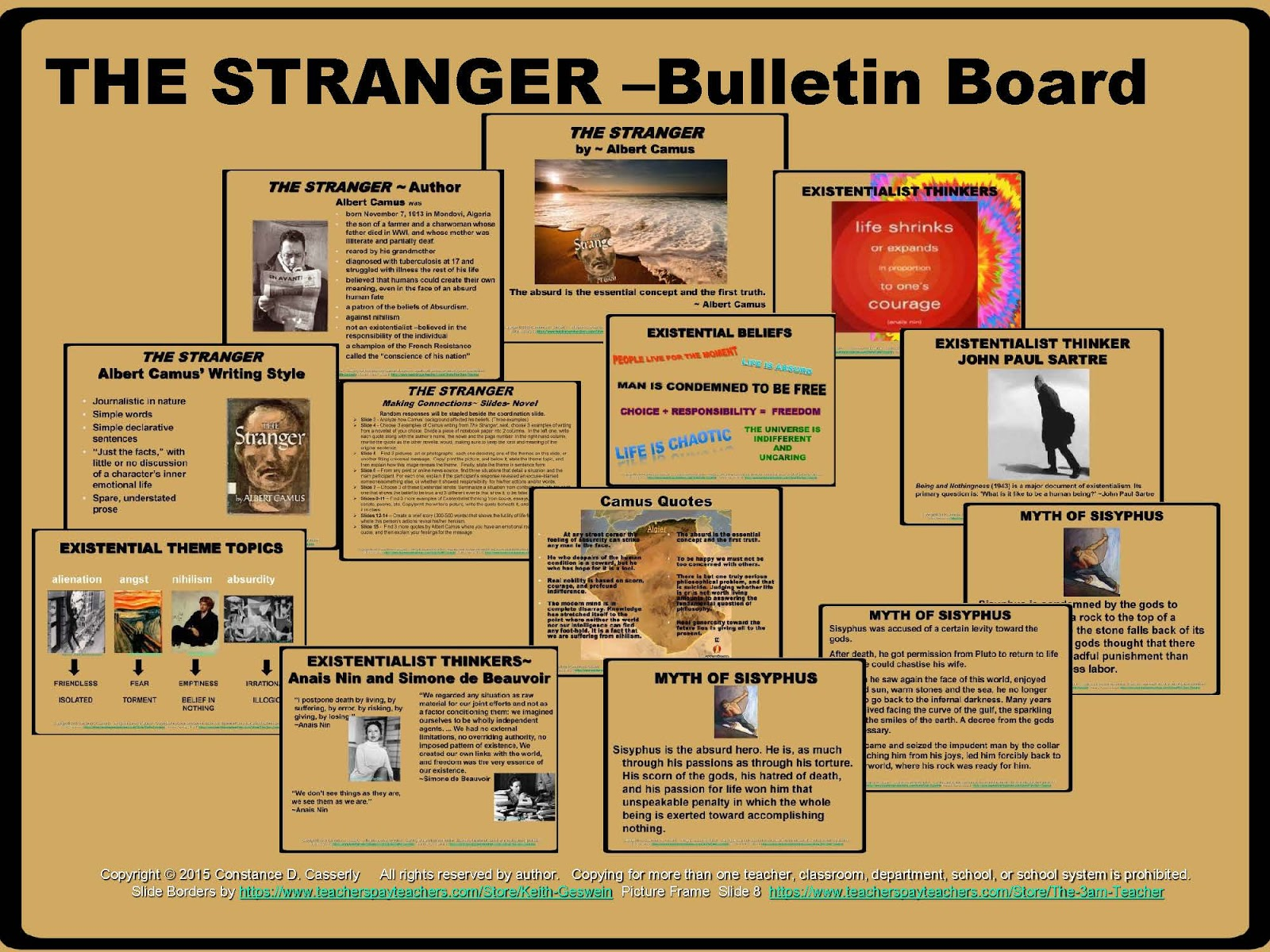 teach it write literature novel ideas albert camus the stranger bulletin board