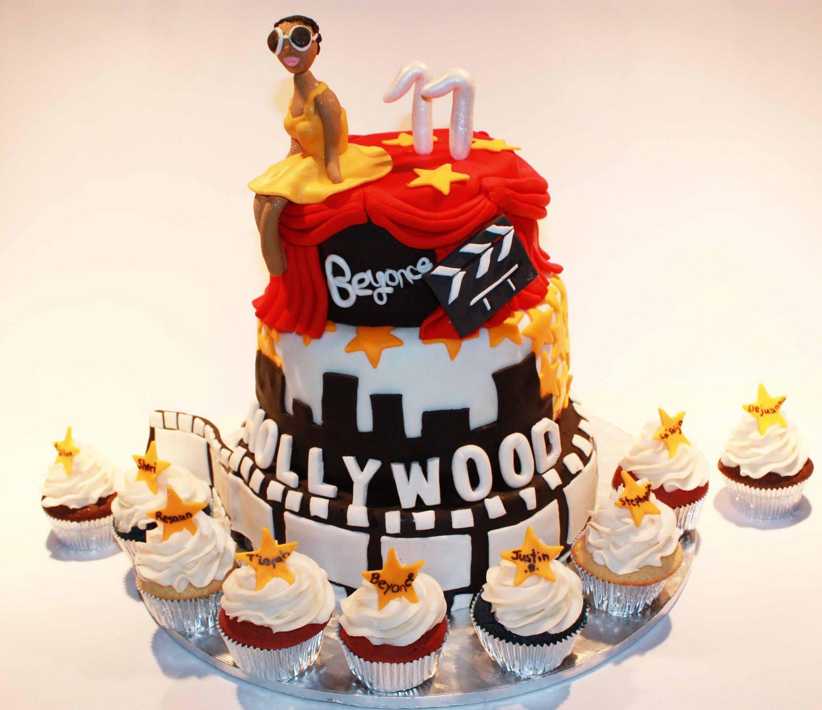 Cup O Cake Hollywood Themed 11th Birthday Cake Beyonce