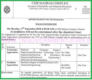 csir-madras-apprentice-trainee-2018-notification-for-diploma-and-engineering-graduates