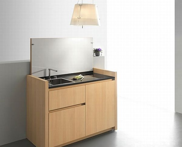 Designed By Kitchoo These Micro Kitchens Consist Of A Sink Microwave Dishwasher Stove Top Fridge Freezer Cutlery Rack And Trash Bin