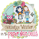 Winner The Paper Nest Dolls March Challenge