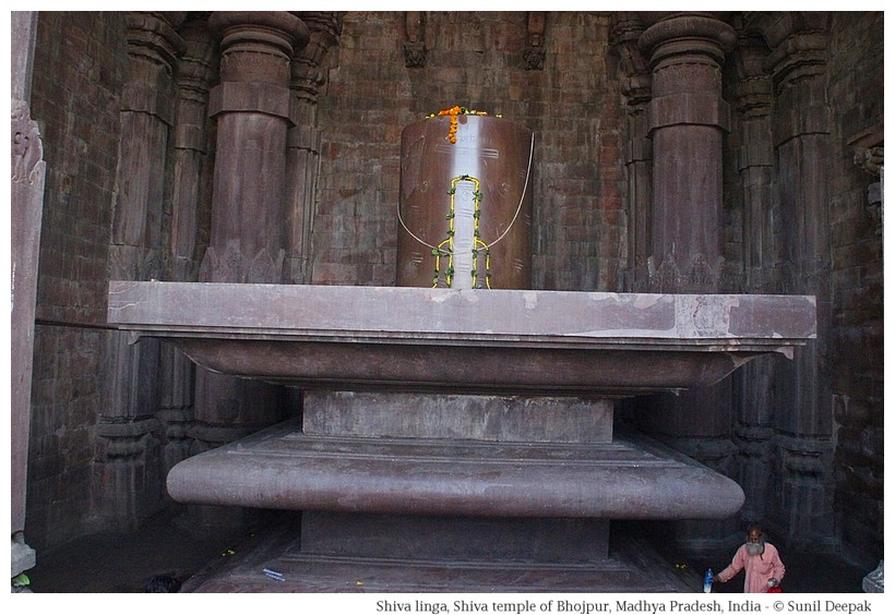 Garbhgriha with massive shivalinga, Shiva temple, Bhojpur, Madhya Pradesh, India - Images by Sunil Deepak