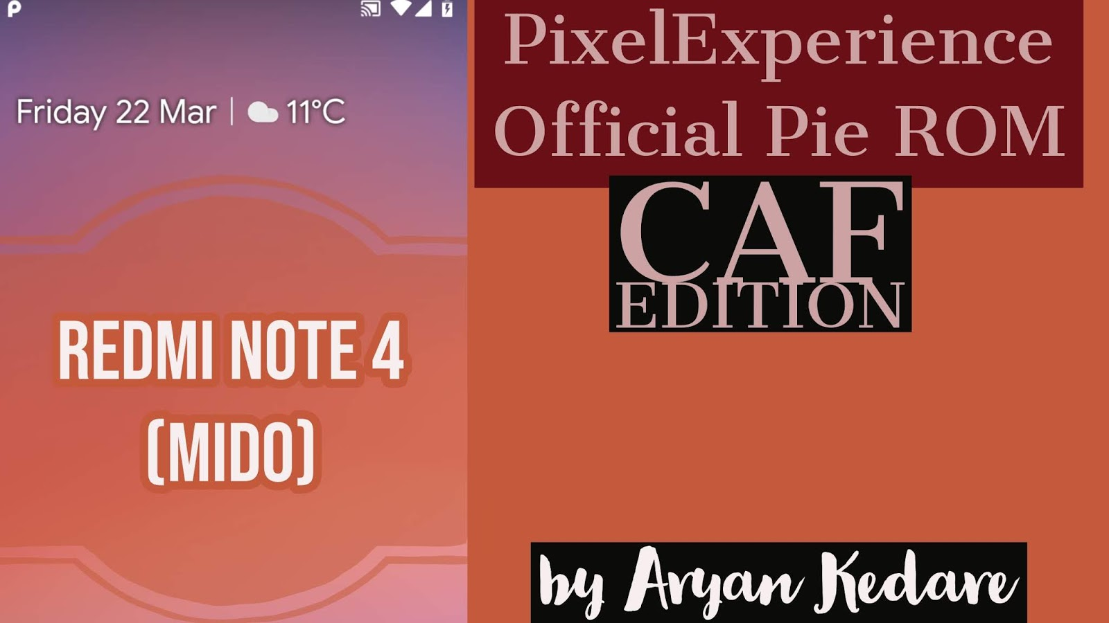 New PixelExperience Official Pie build (CAF edition) for Xiaomi
