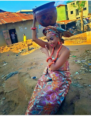 Huddah Monroe rocks African traditional attire for photoshoot (see here)