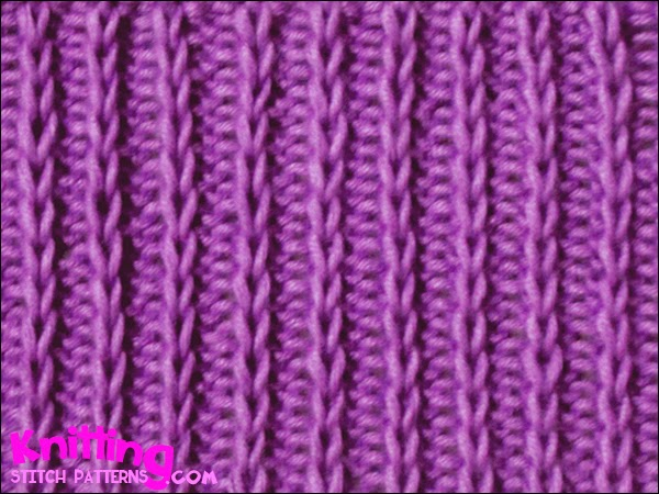Slip Stitch Rib P2 K1 -  easy and fun stitch to knit