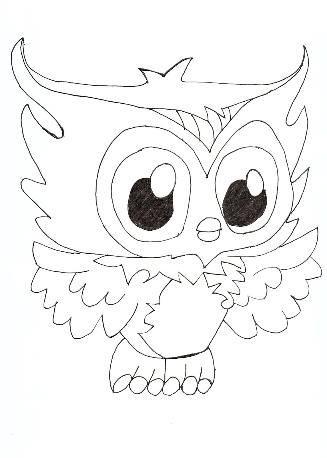 Free Printable Monster High Coloring Pages: Sir Hoot a