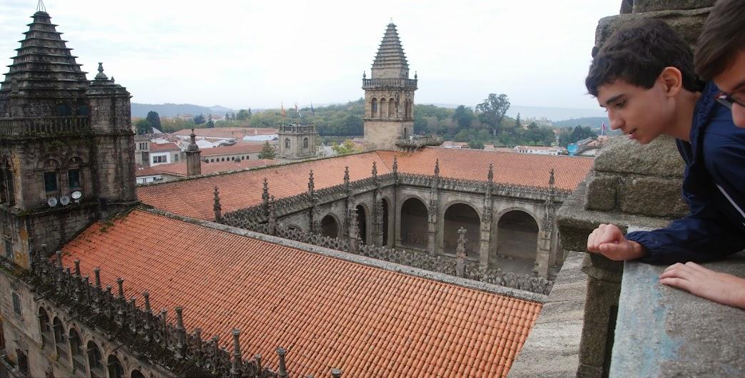 Vista desde los tejados de la Catedral de Santiago de Compostela