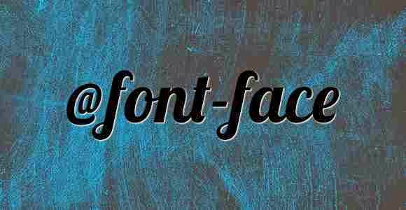@font-face in css