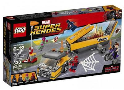 JUGUETES - LEGO Super Heroes  76067 Ataque al camión cisterna  MARVEL Capitán America 3 Civil War   Producto Oficial 2016 | Piezas: 330 | Edad: 6-12 años  Comprar en Amazon España