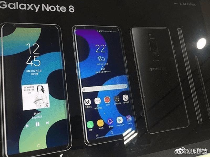 Samsung Galaxy Note 8 Alleged Render Leaks