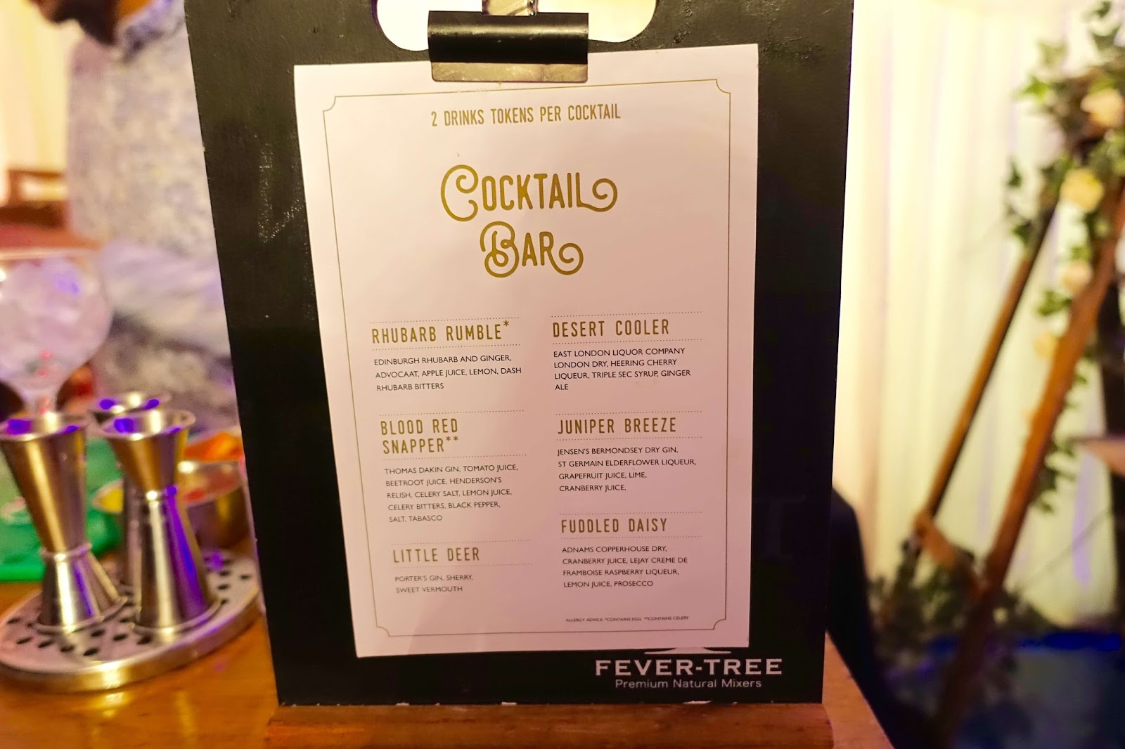 Gin cocktail bar at gin festival 2017