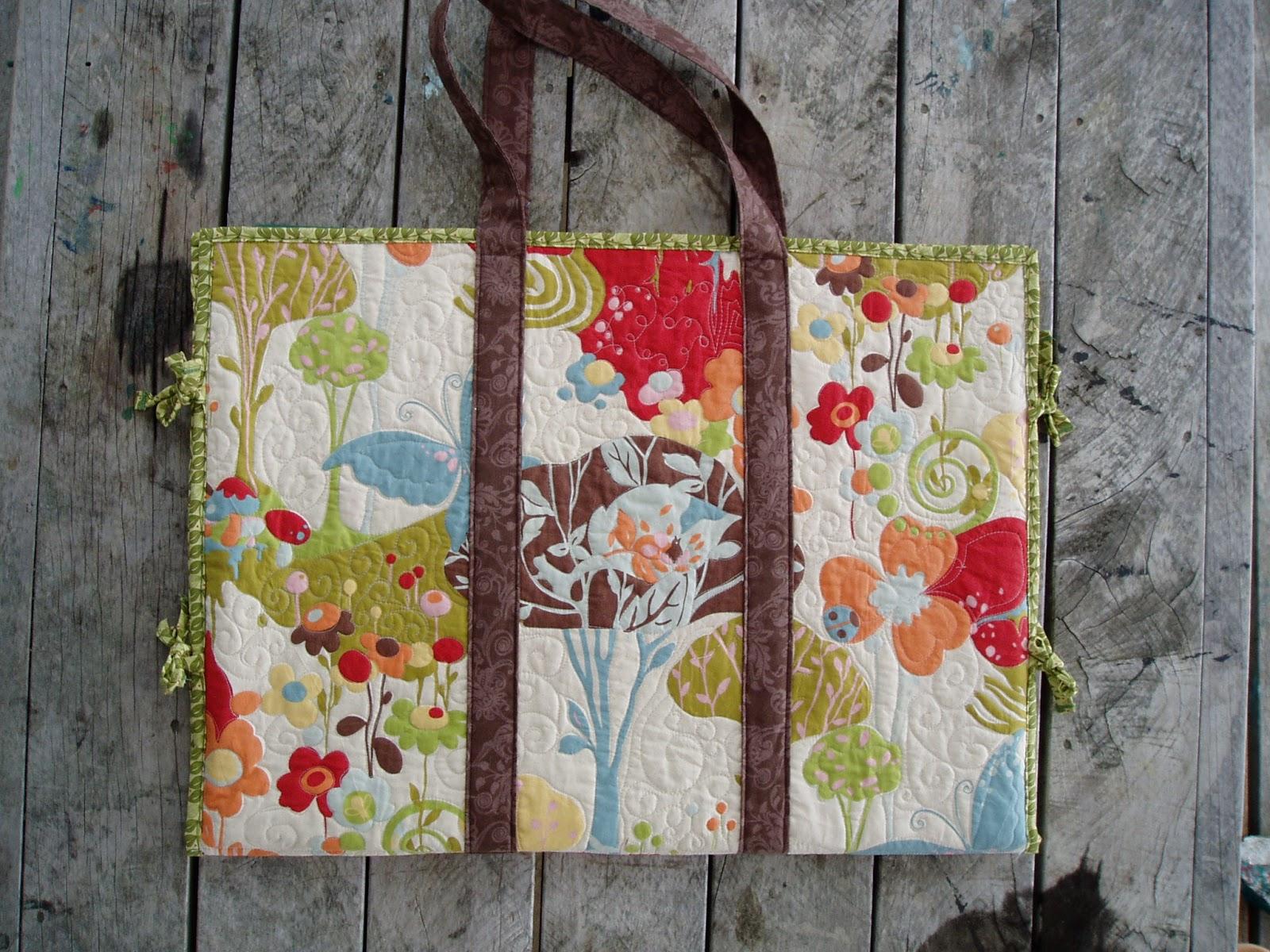 Charlotte Scott Textile Artist Mat And Ruler Bag