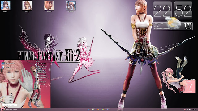 Serah Farron Windows 8.1 Theme