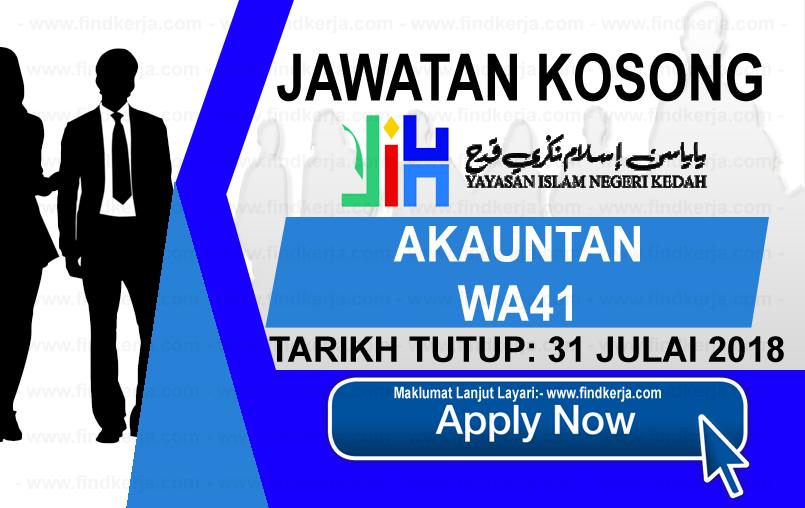 Jawatan Kerja Kosong YINK - Yayasan Islam Negeri Kedah logo www.findkerja.com www.ohjob.info julai 2018