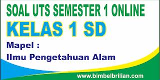 Soal UTS IPA Kelas 1 ( Satu ) SD Semester 1 (Ganjil) - Langsung Ada Nilainya