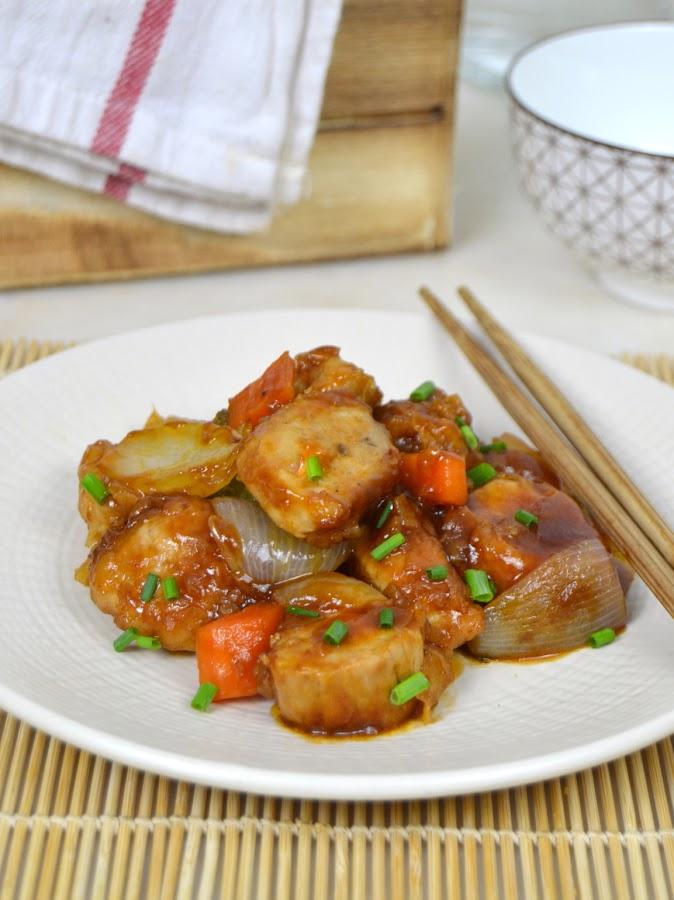 Cerdo agridulce, receta china