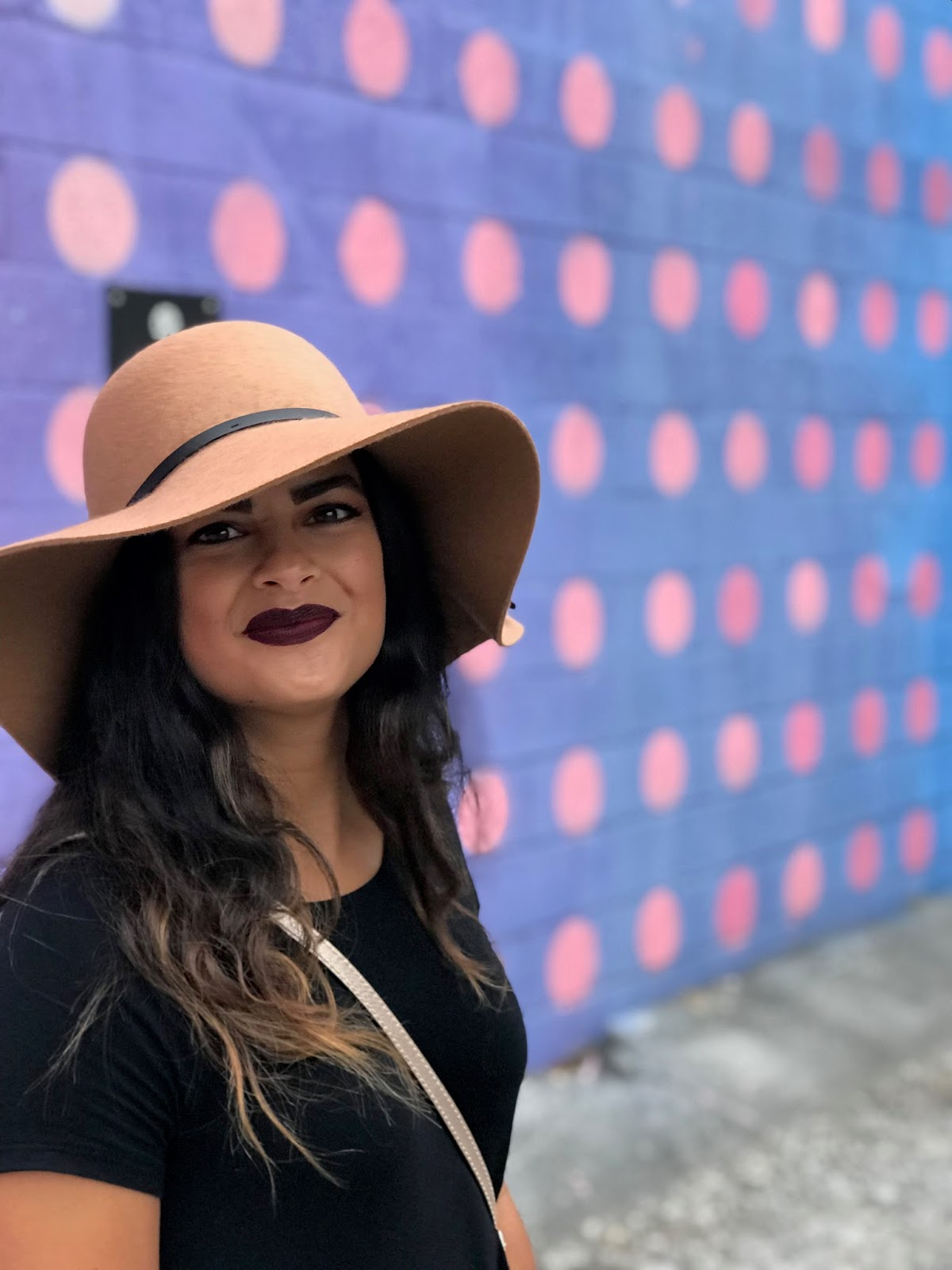Priya the Blog, Nashville fashion blog, camel floppy hat, black swing dress, black Rag & Bone Harrow booties, Fall outfit with floppy hat