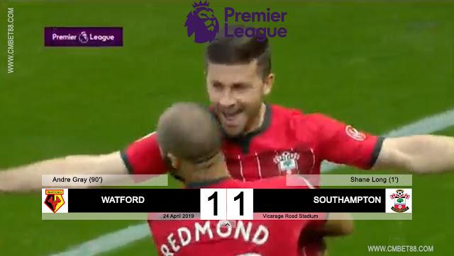 Cuplikan Gol Watford VS Southampton