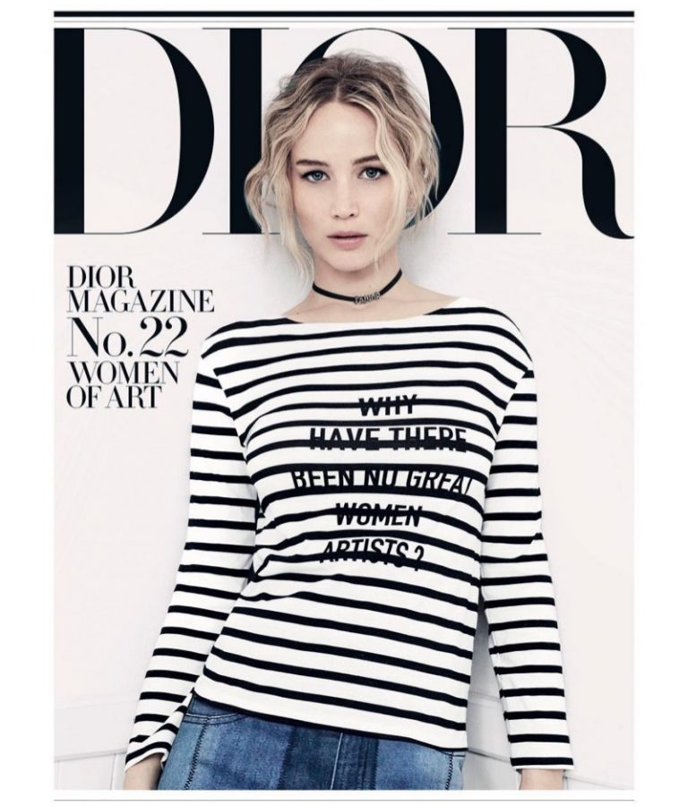 Jennifer Lawrence Charms in Spring Fashion for Dior Magazine