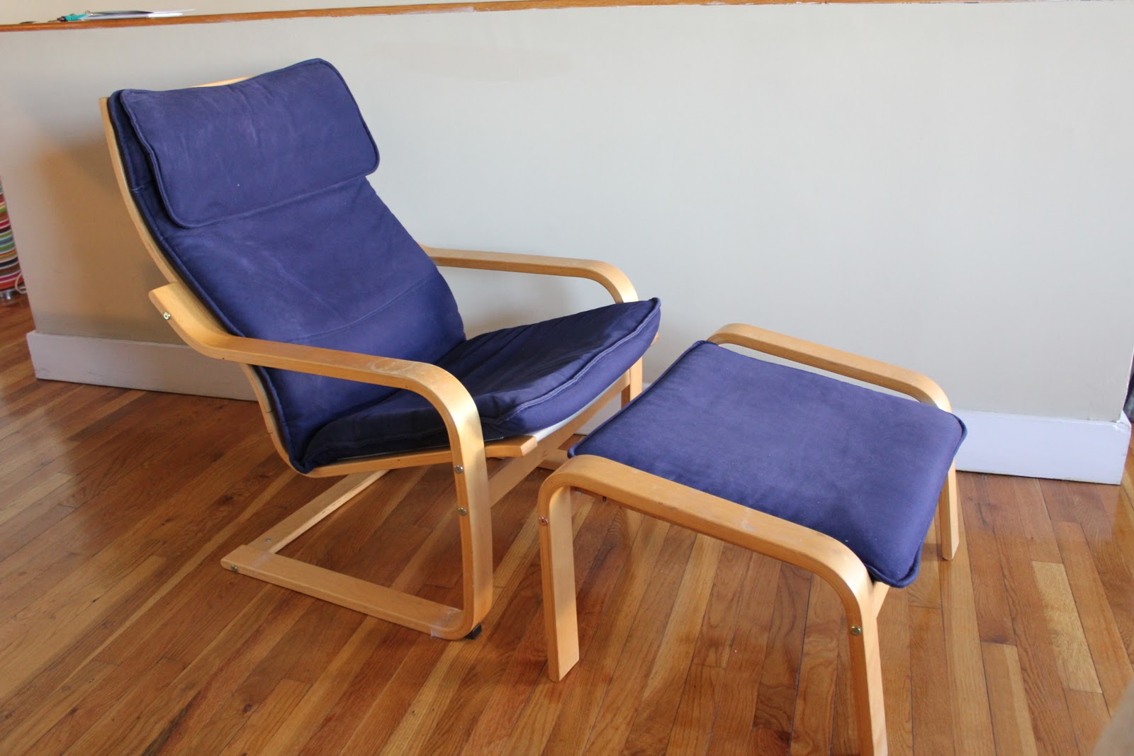 Moving Sale IKEA Poang armchair w footstool SOLD