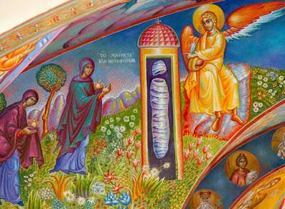 τοιχογραφία του π. Σταμάτη Σκλήρη