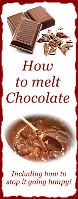 instructions on melting chocolate