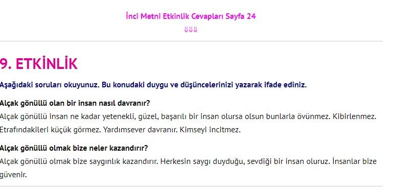 3. Sınıf Türkçe Çalışma Kitabı Cevapları Dikey Yayınları Sayfa 24