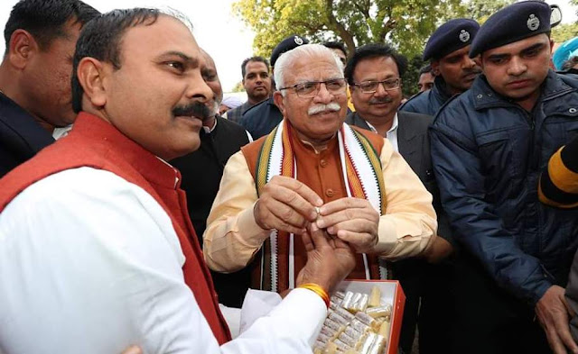 Sukhbir Malerana made CM Manohar Lal's sweet sweet on BJP's victory in Jant trips