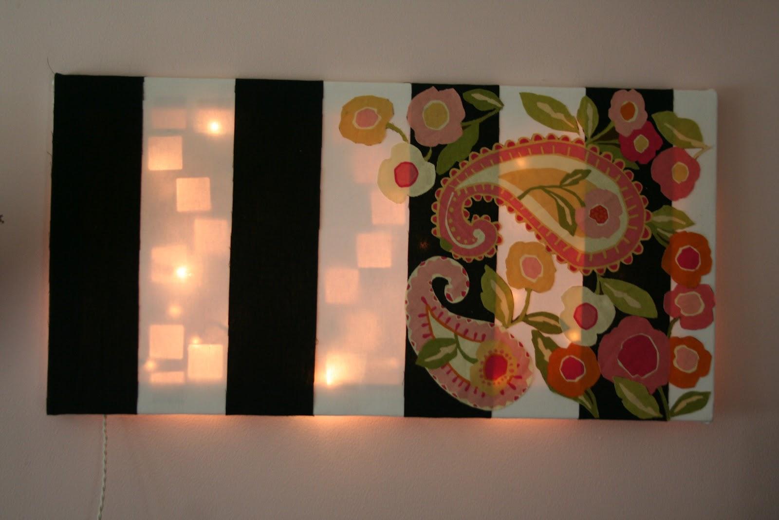 Vitamin C... A Daily Dose of Creativity: Light Up Wall Art