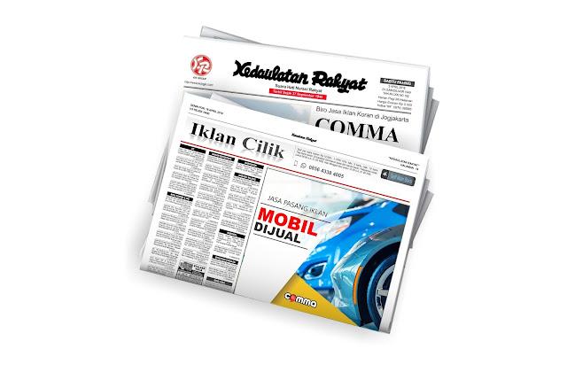 iklan mobil dijual di koran Kedaulata rakyat jogja