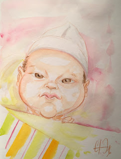 Caricature bébé ©Guillaume Néel