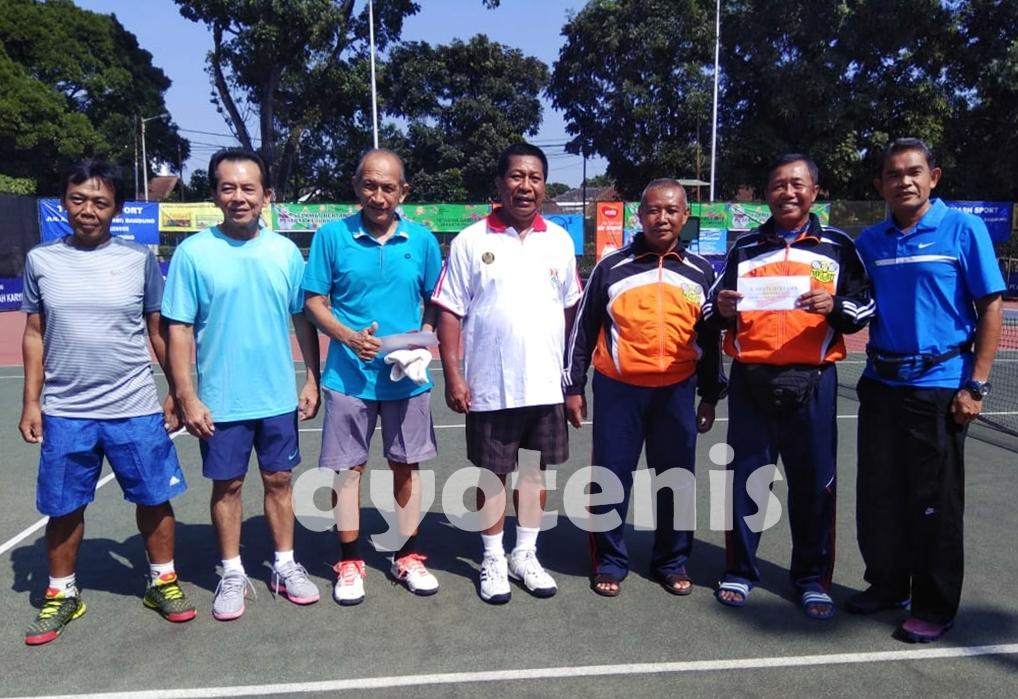 Kejurnas Tenis Veteran BAVETI Jawa Barat 2018: Inilah Juaranya