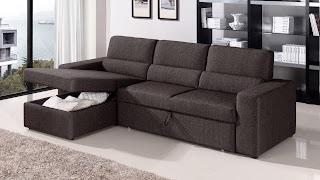 Microfiber And Leather Sectional Sleeper Sofa With Chaise And Storage Sectional Sleeper Sofa
