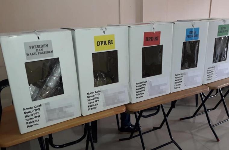Lima Kotak dan Ribuan Surat Suara Pilpres di Sumatra Selatan Hilang