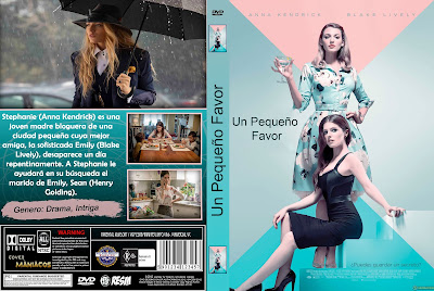 CARATULA UN PEQUEÑO FAVOR - A SIMPLE FAVOR - 2018 - [COVER-DVD]